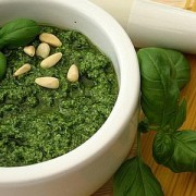 Pesto, one of the most known sauce for pasta, is from Liguria.